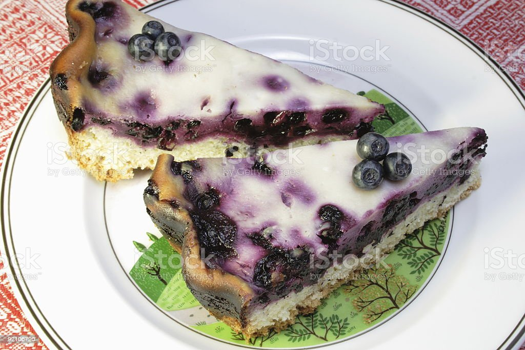 Blueberry Cream Flan royalty-free stock photo