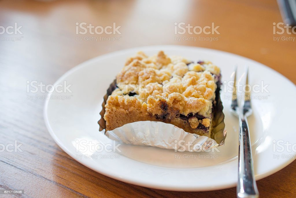 Blueberry Crumbled stock photo