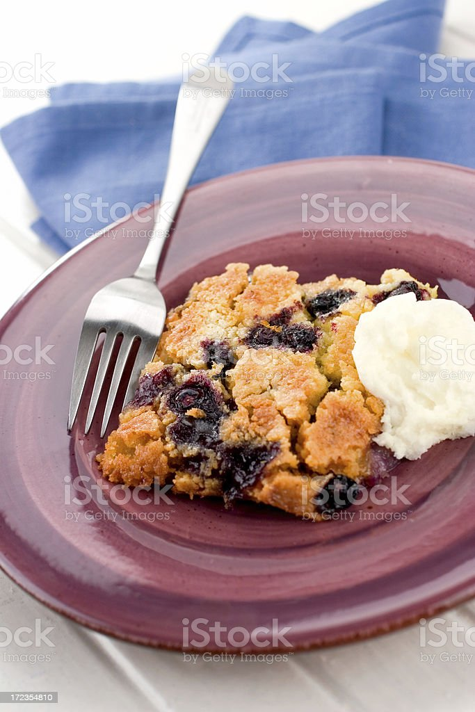 Blueberry Dump Cake royalty-free stock photo