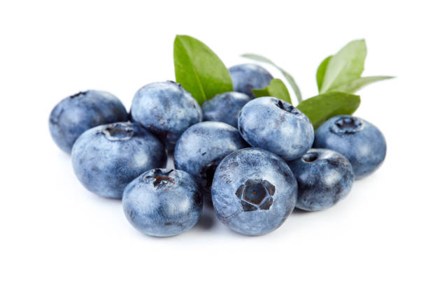 blueberry fruits isolated - blueberry stock pictures, royalty-free photos & images