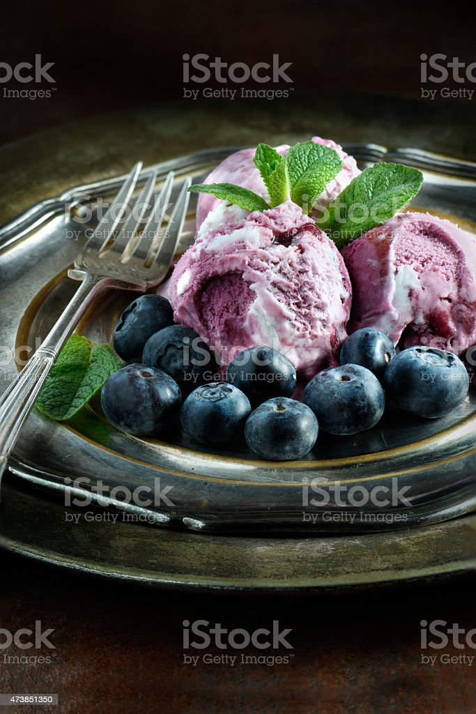 Blueberry Ice Cream stock photo