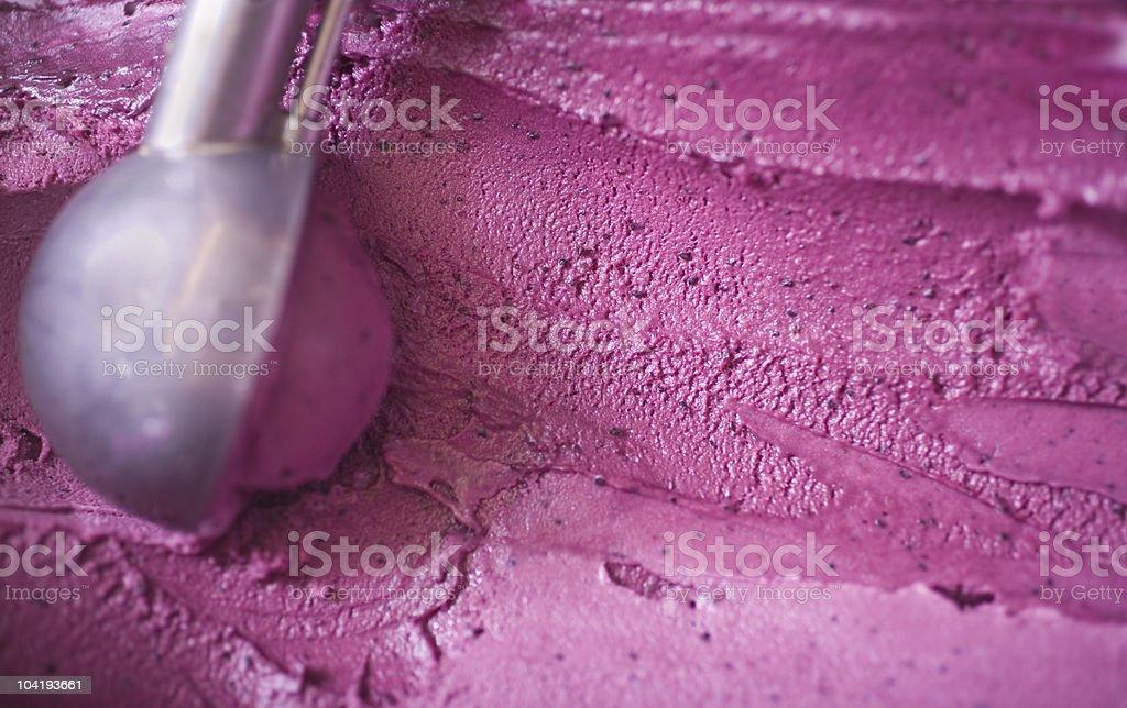 Blueberry ice cream scoop stock photo