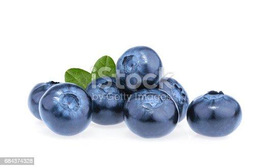 853493518 istock photo Blueberry isolated on white background 684374328