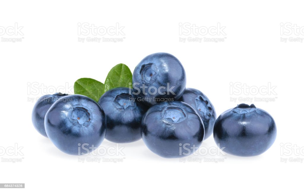 Blueberry isolated on white background bildbanksfoto