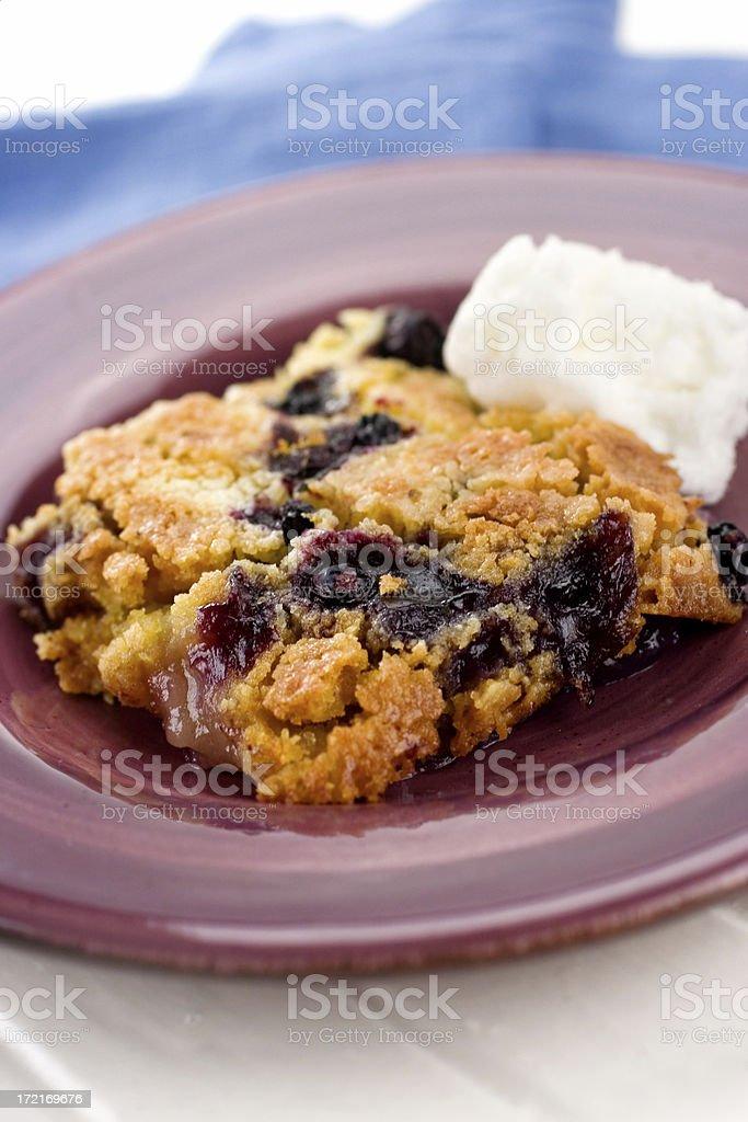 Blueberry Lemon Dumpcake stock photo