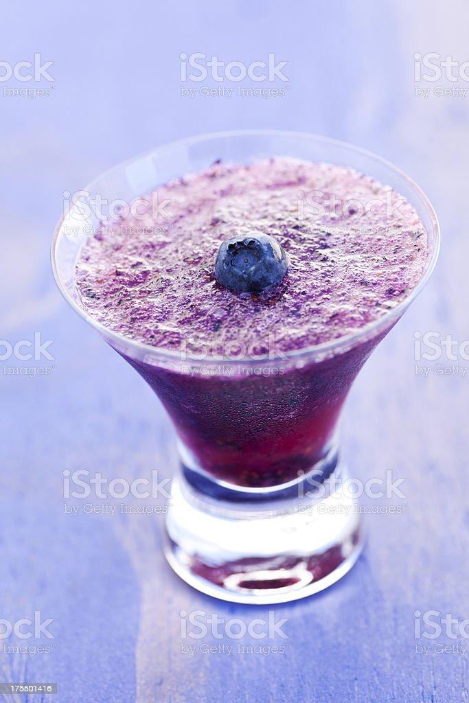 Blueberry martini royalty-free stock photo