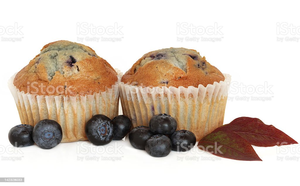Blueberry Muffin Cupcakes royalty-free stock photo