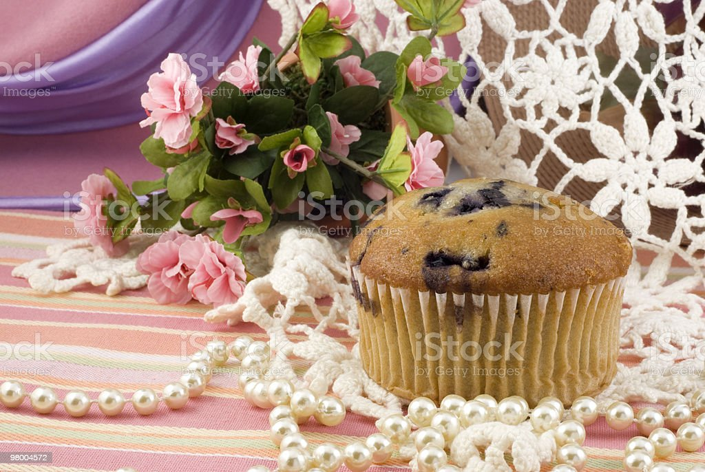 Blueberry Muffin on Vintage Background royalty-free stock photo