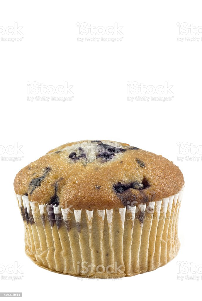Blueberry Muffin Vertical White Background royalty-free stock photo