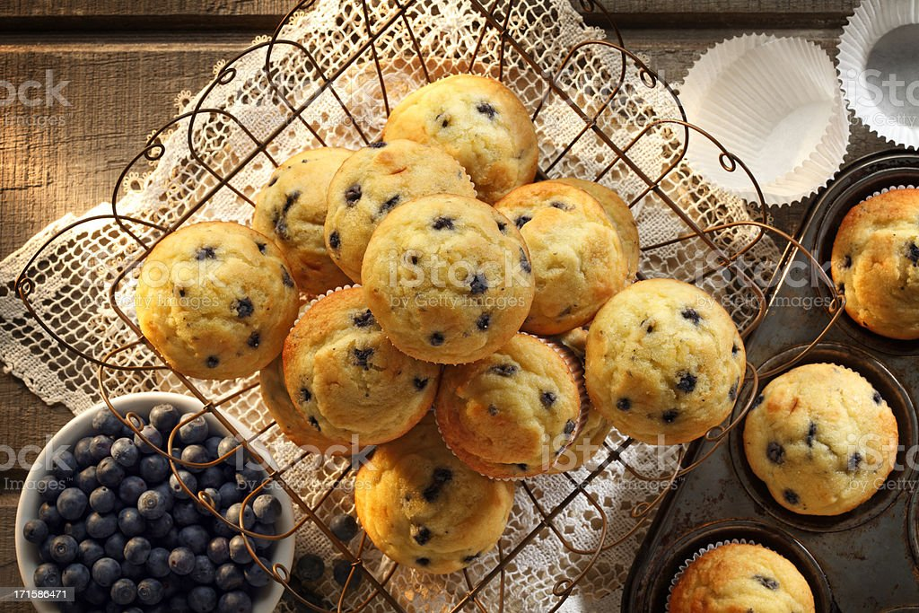 Blueberry Muffins royalty-free stock photo