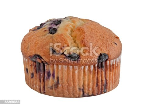 A large blueberry muffin