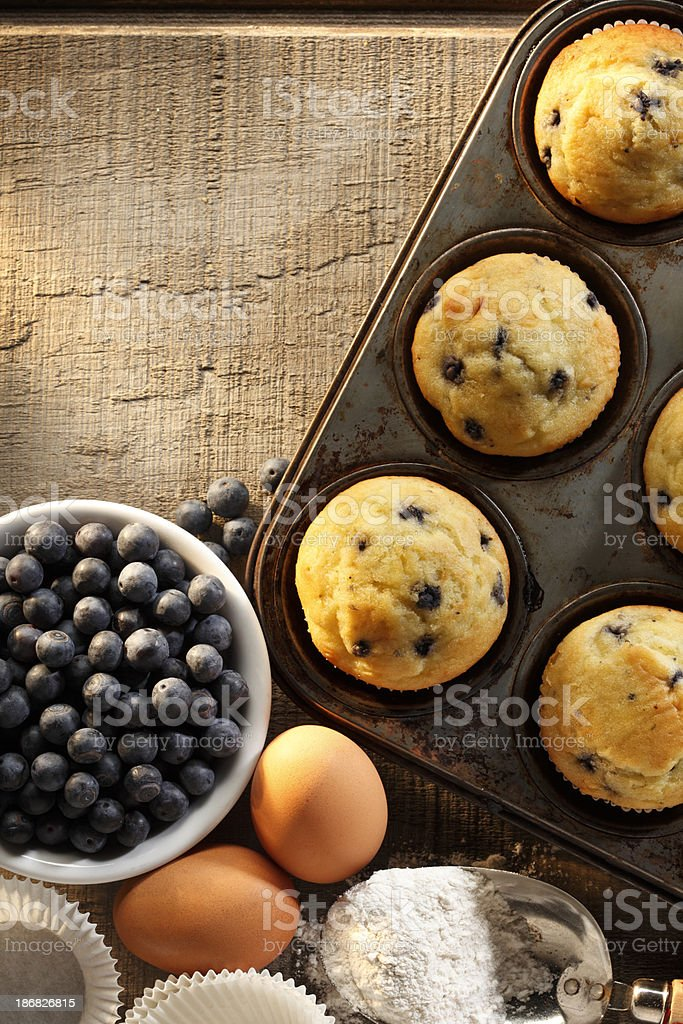 Blueberry Muffins stock photo