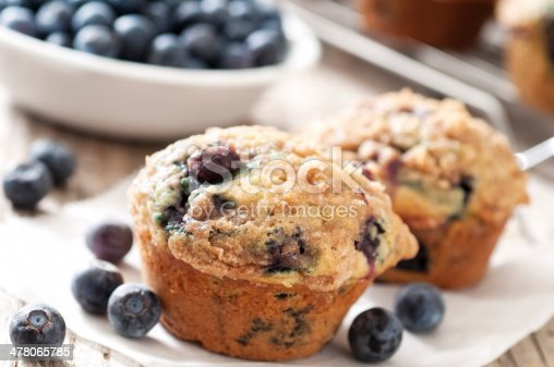 Blueberry muffins - Please see my portfolio for other food and drink images.