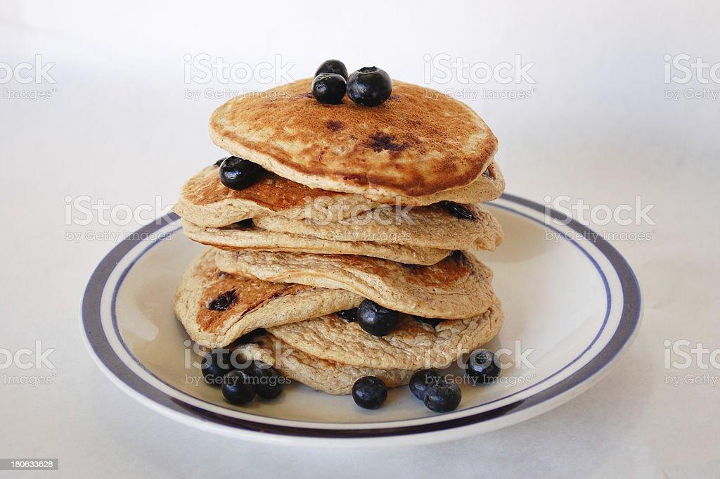 Blueberry Oat Pancakes royalty-free stock photo