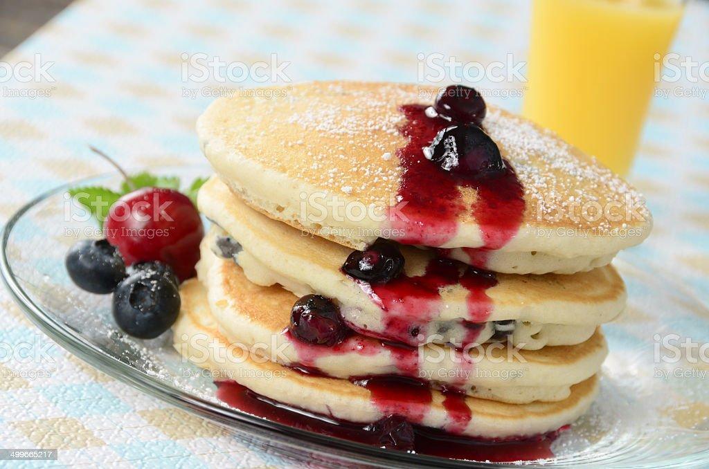 Blueberry Pancakes royalty-free stock photo