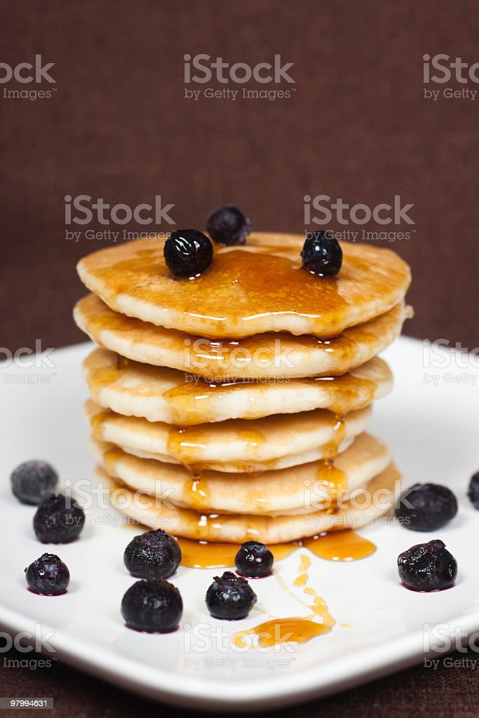 Blueberry Pancakes royalty-free stock photo