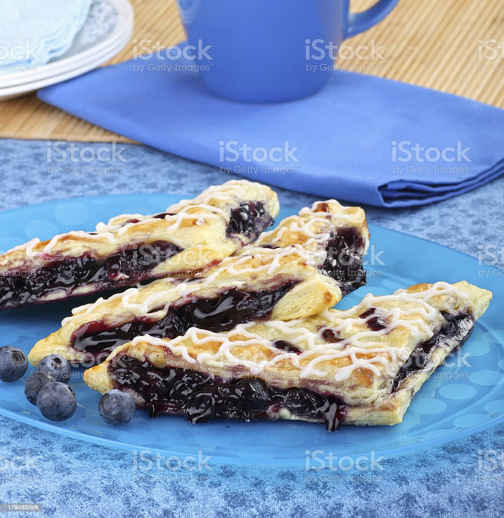 Blueberry Pastries stock photo