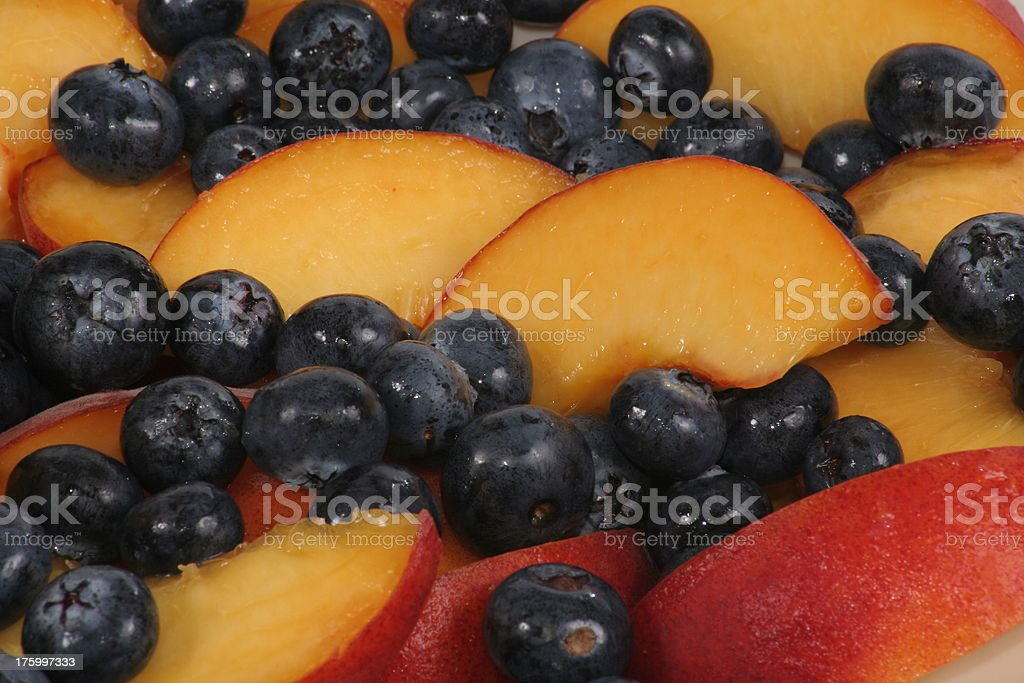 blueberry peach delight royalty-free stock photo