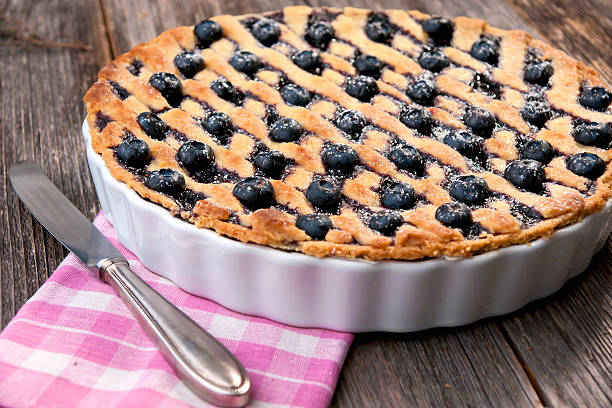 blueberry pie - blueberry pie stock pictures, royalty-free photos & images