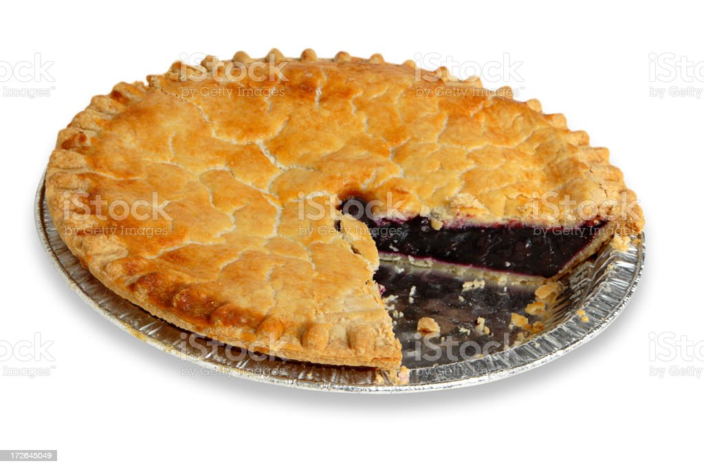 Blueberry Pie stock photo