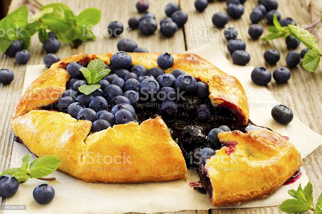 Blueberry pie. stock photo