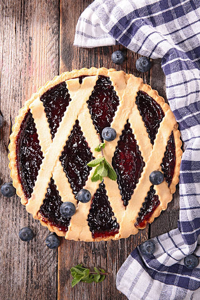 blueberry pie - blueberry pie stock photos and pictures