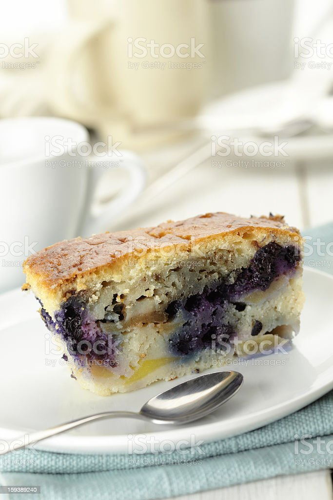 Blueberry pie slice royalty-free stock photo