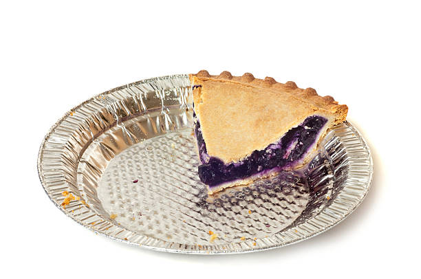 blueberry pie slice - blueberry pie stock photos and pictures