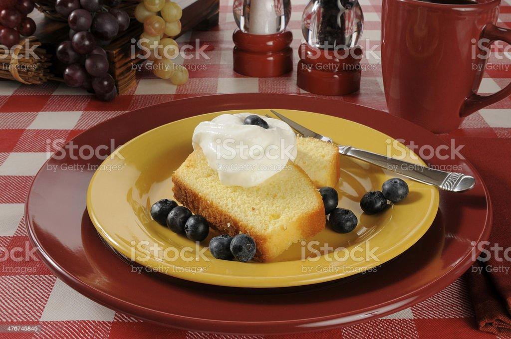 Blueberry shortcake royalty-free stock photo