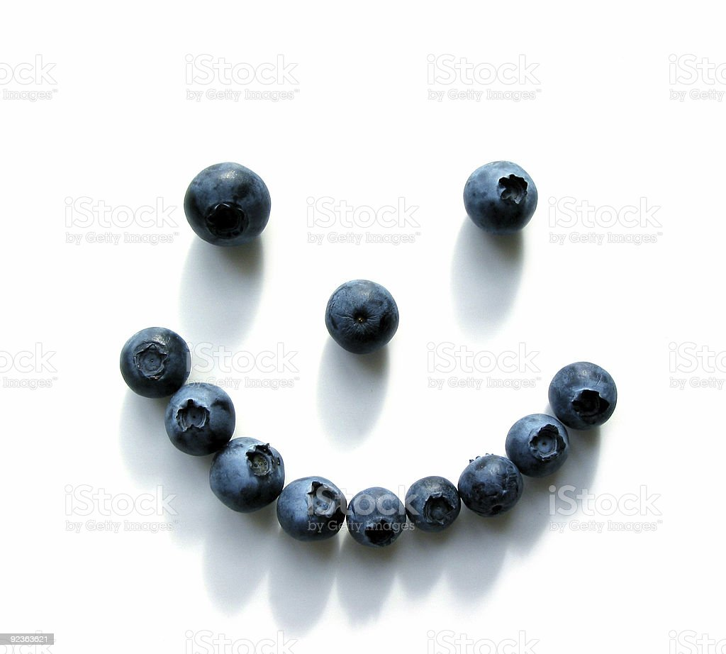 Blueberry smiley face royalty-free stock photo