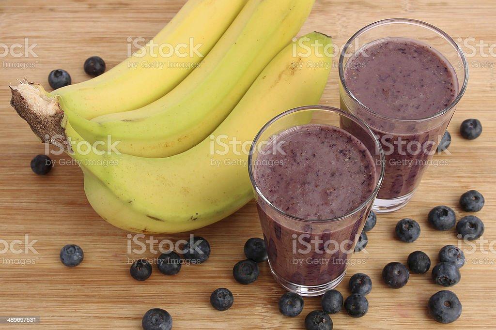 Blueberry smoothie stock photo