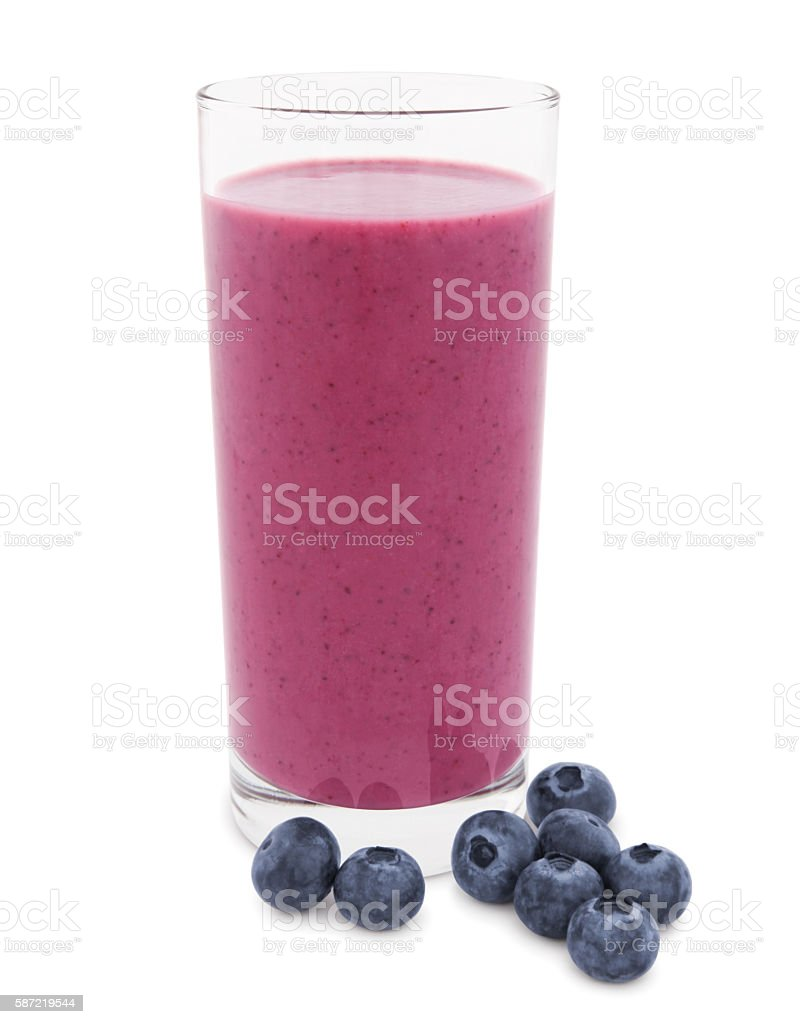 Blueberry Smoothie (with path) stock photo