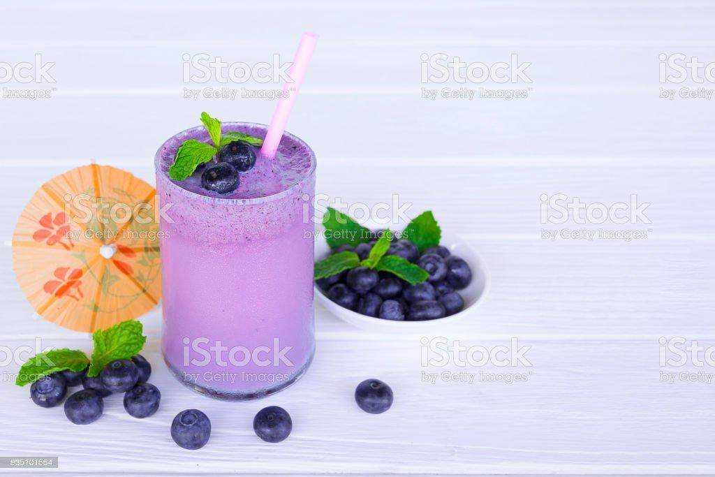 blueberry smoothies stock photo