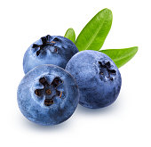 istock Blueberry with leaf isolated on white background with clipping path 1182799992
