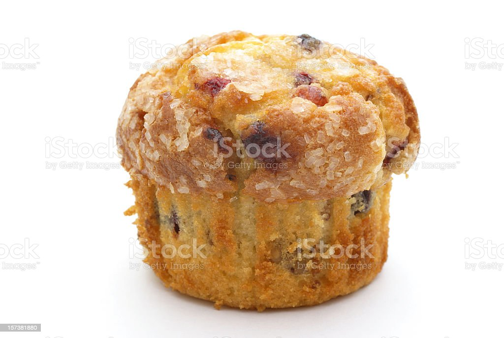 blueberry-cranberry muffin stock photo