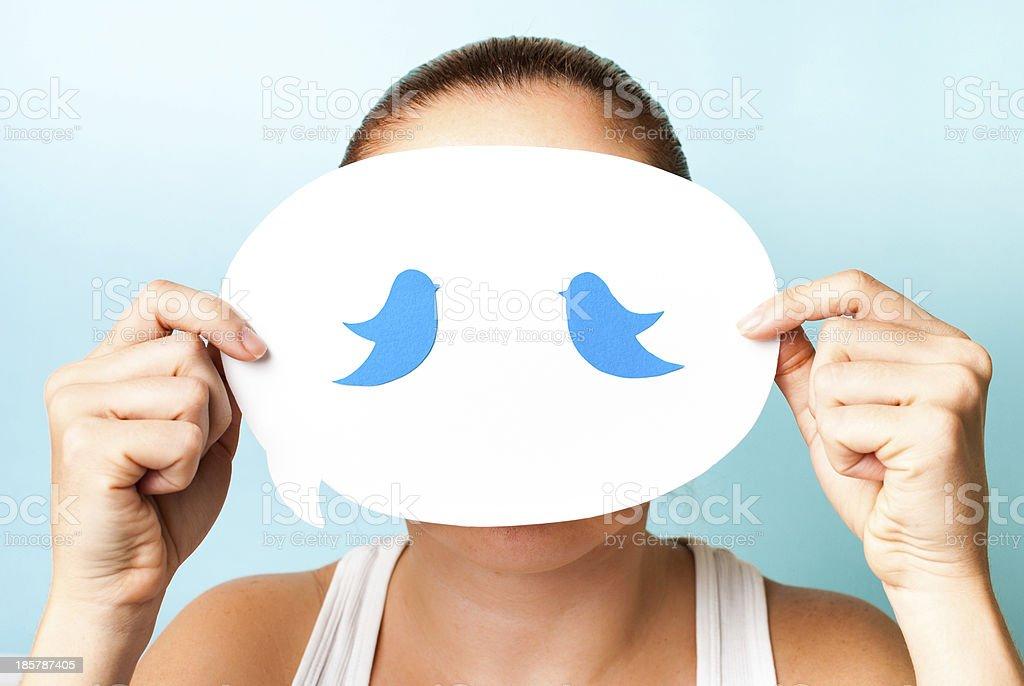 Bluebird Censored royalty-free stock photo