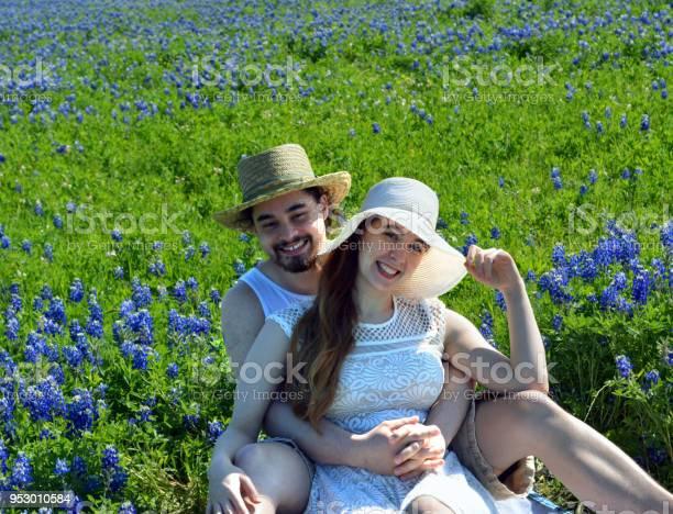 Bluebonnet Couple Clear