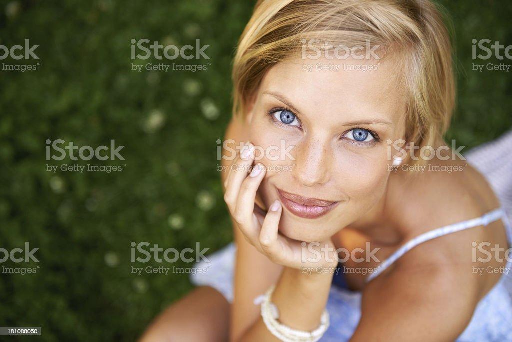 Blue-eyed beauty royalty-free stock photo