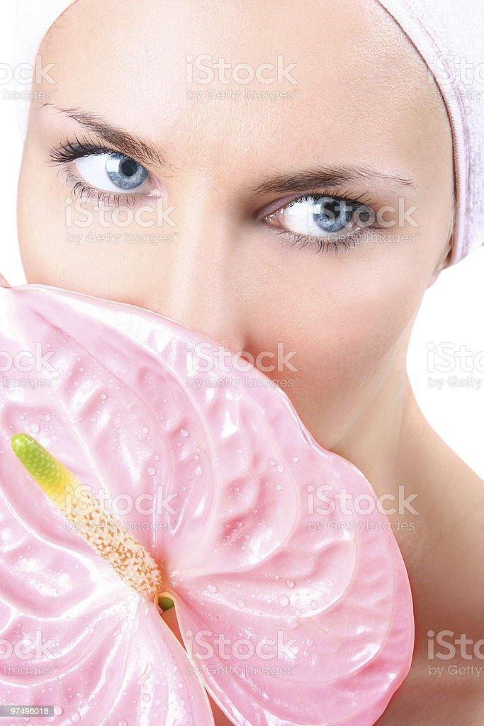 blue-eyed royalty-free stock photo