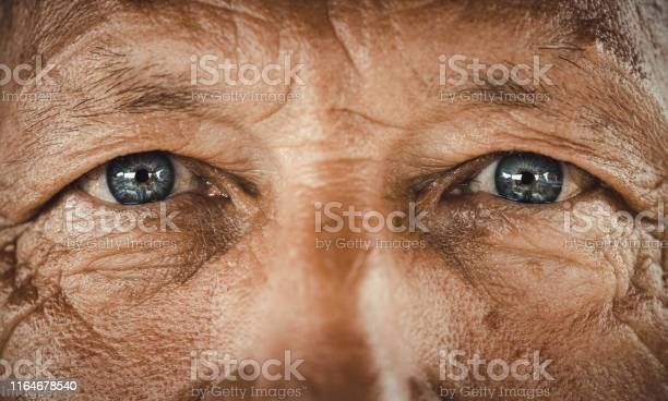 Photo of Blue-eyed senior man.