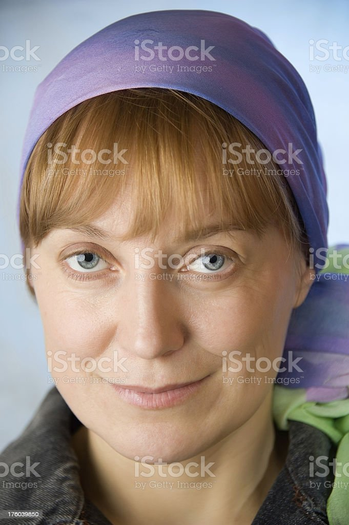 Blue-eyed women. stock photo