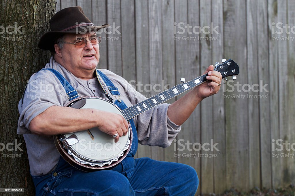 Bluegrass Banjo Man stock photo
