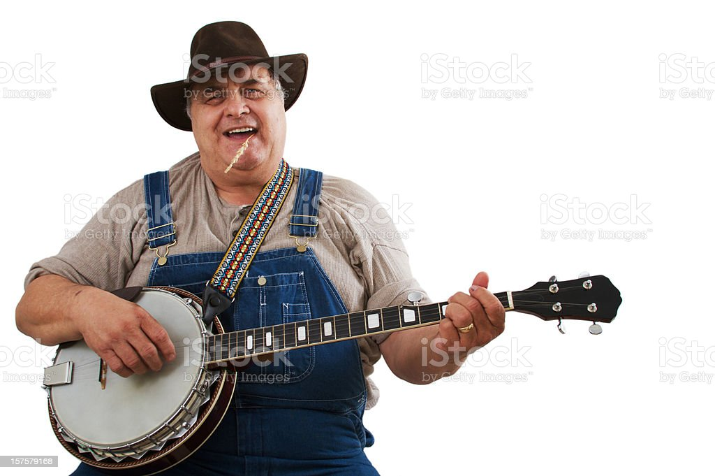 Bluegrass Banjo Player Man stock photo