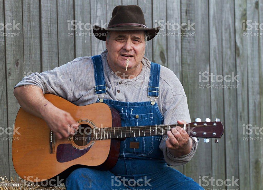 Bluegrass Guitarist Man royalty-free stock photo