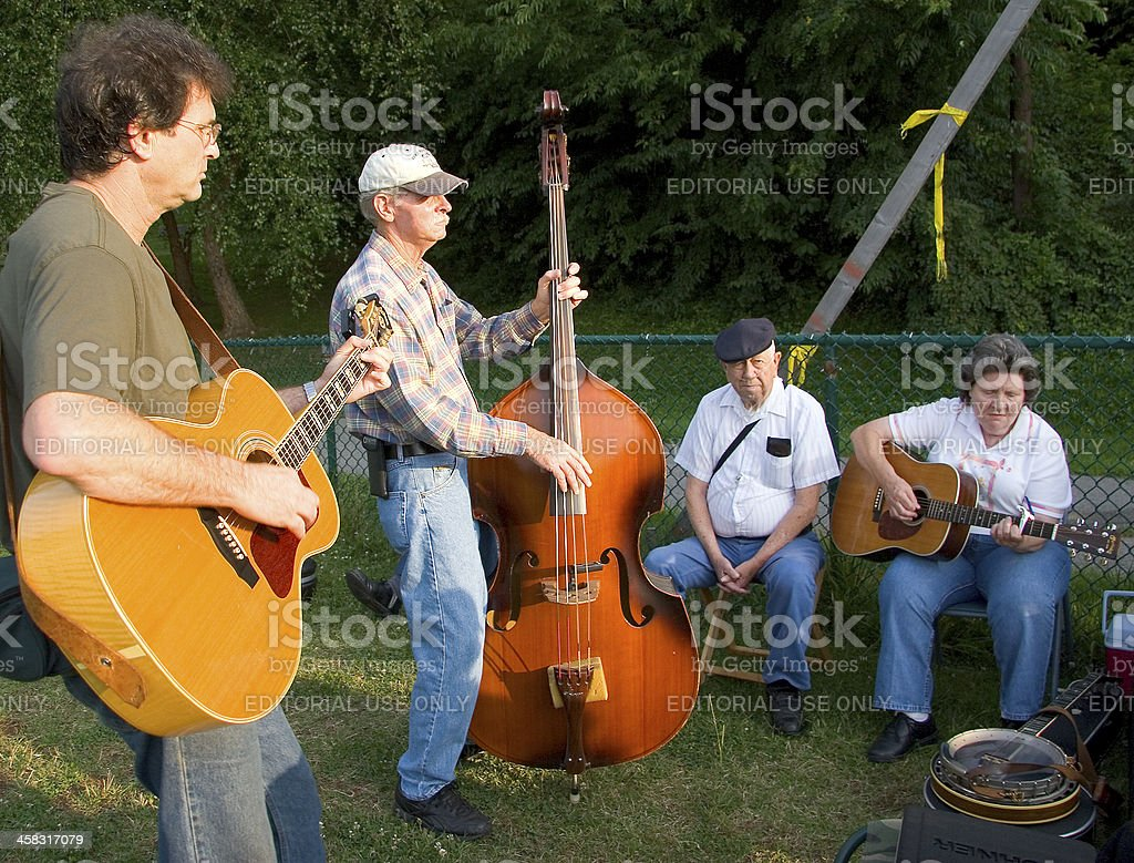 Bluegrass Musicians royalty-free stock photo