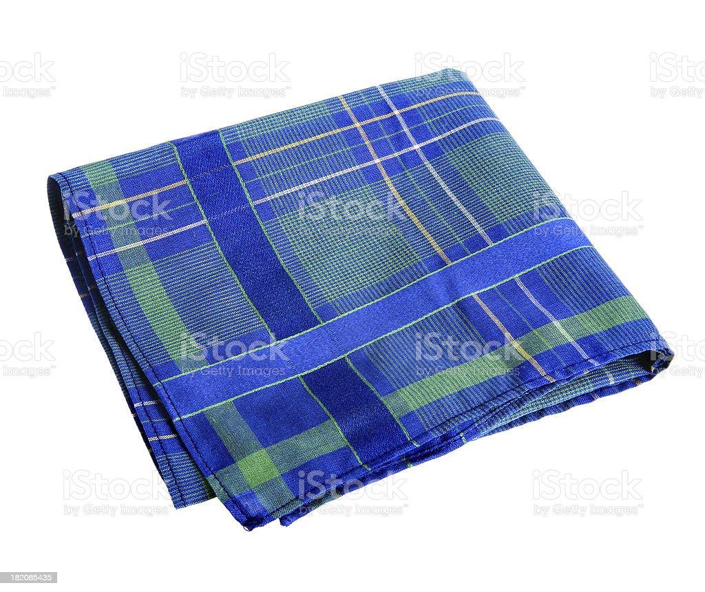 Blue-green handkerchief royalty-free stock photo
