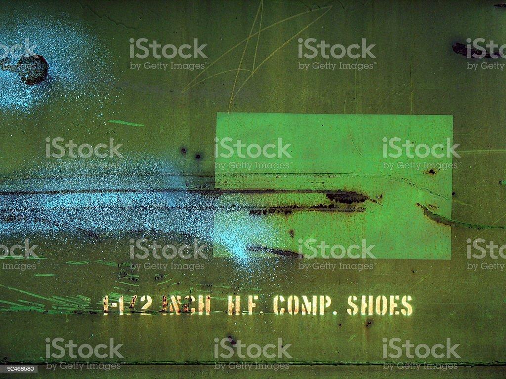 Bluegreen Rusty Splatter stock photo