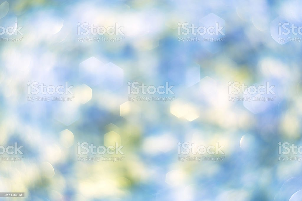 blue-green-yellow hexagonal bokeh royalty-free stock photo