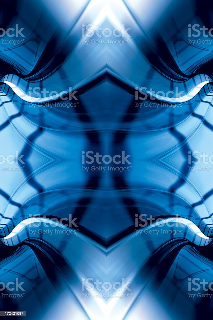 BlueMysticFractalThree royalty-free stock photo