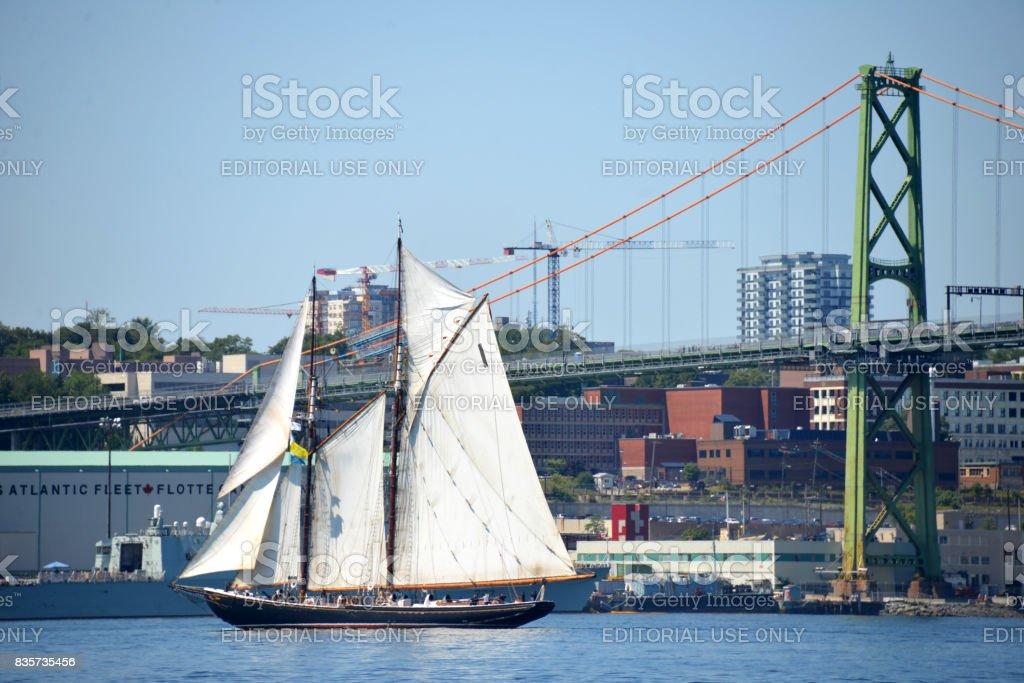 Bluenose II in Halifax Harbour, Nova Scotia, Canada stock photo